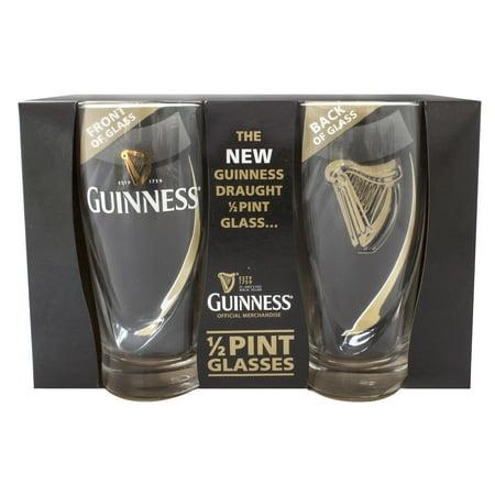 Guinness Half Pint Glasses 2 (Guinness Label Pint Glass)