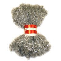 Holiday Time 15' Tinsel Garland, Silver