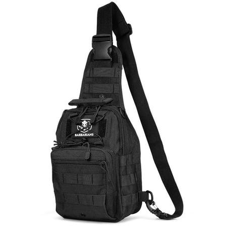 Tactical Sling Bag Pack Barbarians Military Shoulder Bag Satchel, Molle Range Bag Daypack Backpack - Tactical Shoulder Bag