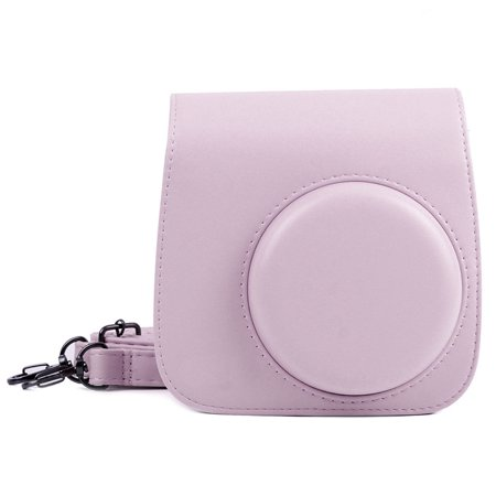 - PU Shoulder Protective Case for Fujifilm Instax Mini 8 Mini 8+ Mini 9 Instant Camera - Premium Vegan Leather Bag Cover with Removable Strap