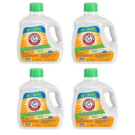 Arm & Hammer Liquid Laundry Detergent for Sensitive Skin, 107 loads, 160.5 fl oz (Pack of