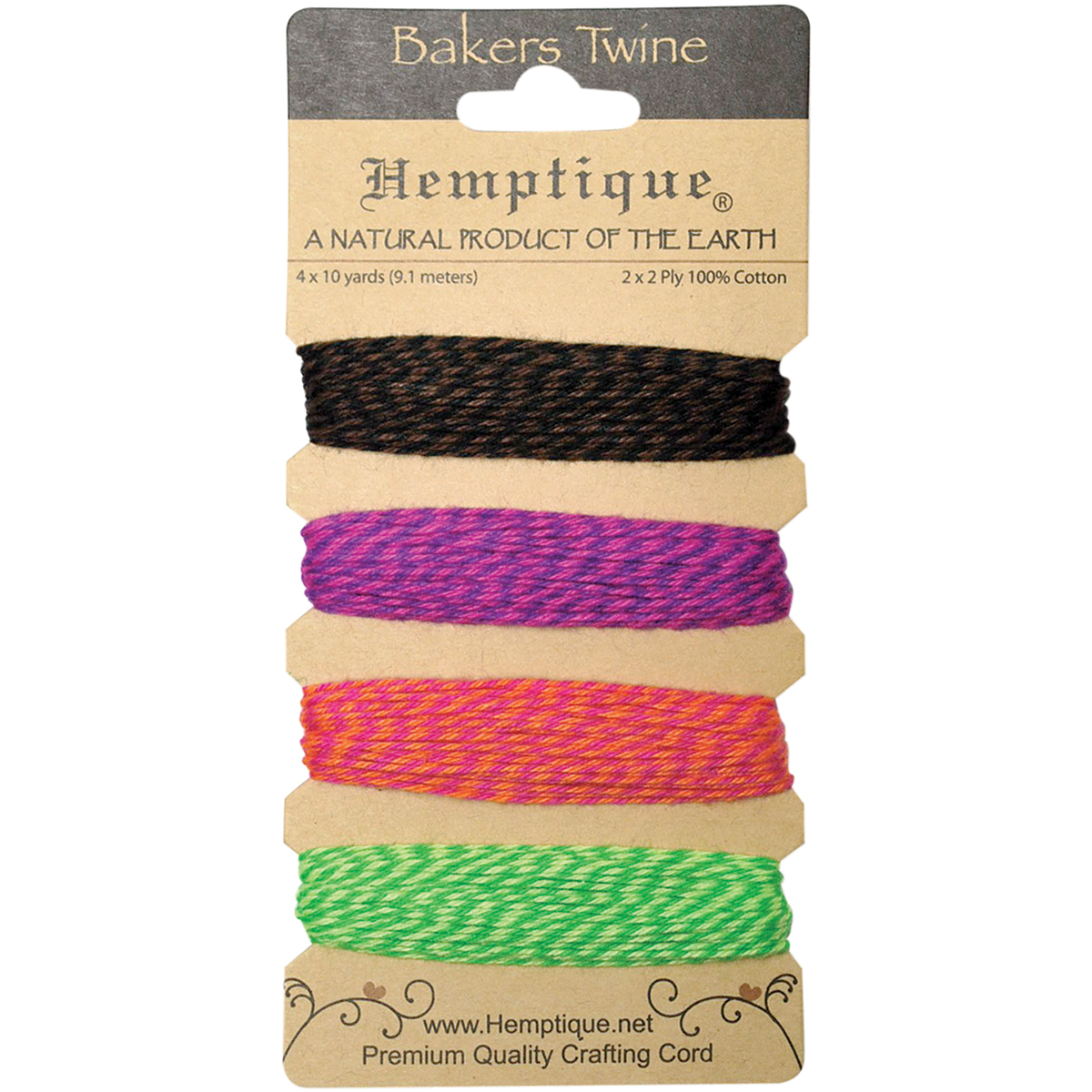 Hemp Cord Spool 20lb 205/' Dark Pink 091037093714