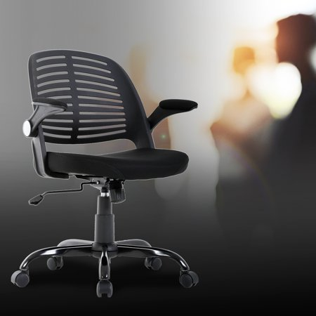 Home Office Chair, Executive Rolling Swivel Ergonomic Chair, Computer Chair With Arms Lumbar Support Task Mesh Chair Heavy Duty Metal Base Desk Chairs For Women, Men(Black)