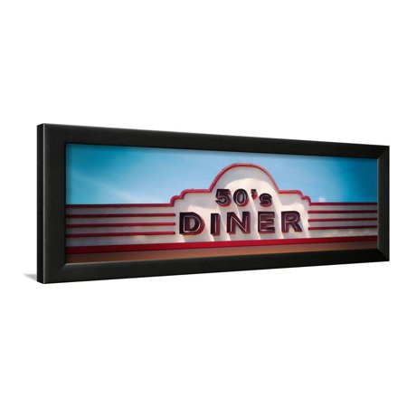 Low angle view of restaurant, 50s Diner, Baguio City, Luzon, Philippines, USA Framed Print Wall Art