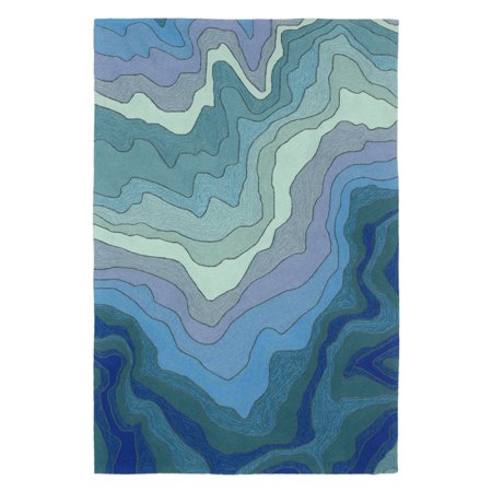 Liora Manne Ravella 2267/03 Mykonos Water Area Rug 7 Feet 6 Inches X 9 Feet 6 Inches