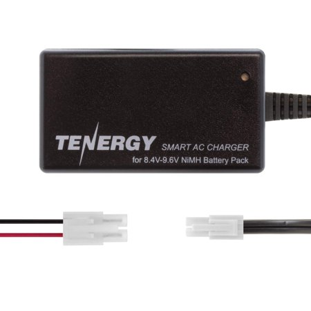 Tenergy Smart Charger for 8.4V-9.6V NiMH Battery Packs, NiMH Battery Charger for Airsoft Guns, RC Cars, RC Airplanes with Mini Tamiya/Standard Tamiya
