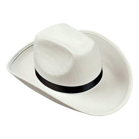 Fun Express - White Cowboy Hat - Apparel Accessories - Hats - Cowboy Hats - 1 Piece - Cowboy Accessories
