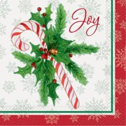 candy cane christmas paper luncheon napkins 65 in 16ct - Christmas Napkins