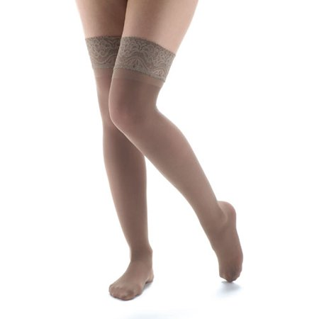 871a87686be SUPPORT PLUS - Women s Moderate Support Compression Thigh High Stockings -  Walmart.com