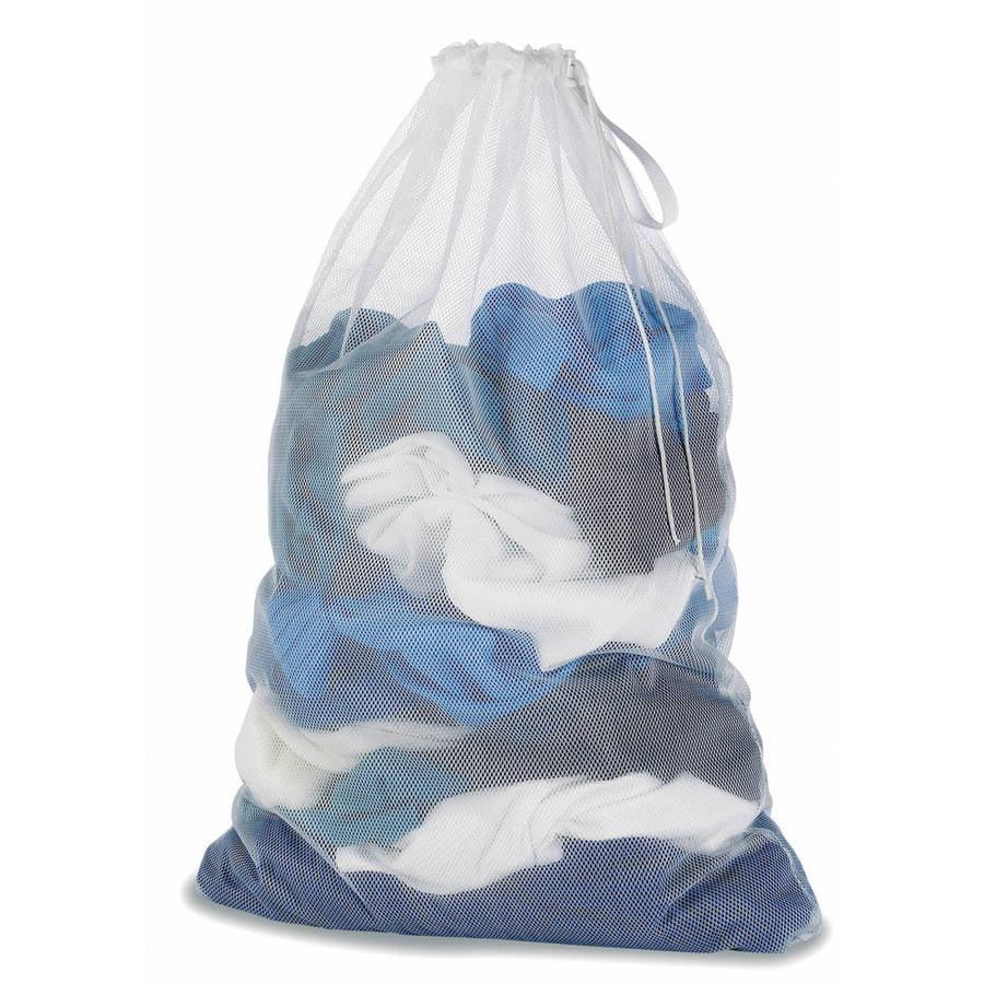 Whitmor 6154-111 White Mesh Laundry Bag