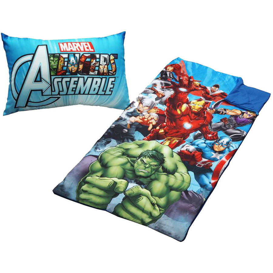 Marvel Avengers 2-Piece Sleeping Bag Set