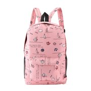 JUST BUY IT Lightweight Cartoon Printed Women's Backpacks Soft Canvas School Girls Bags