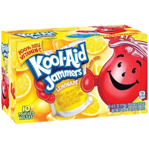 Kool-Aid Jammers Lemonade Drink, 6 fl oz, 10 count