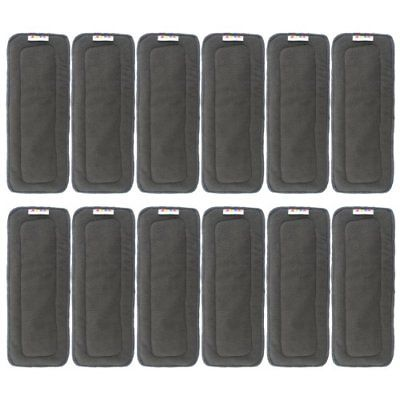 Alva Baby 5-Layer Charcoal Bamboo Inserts Reusable Liners...