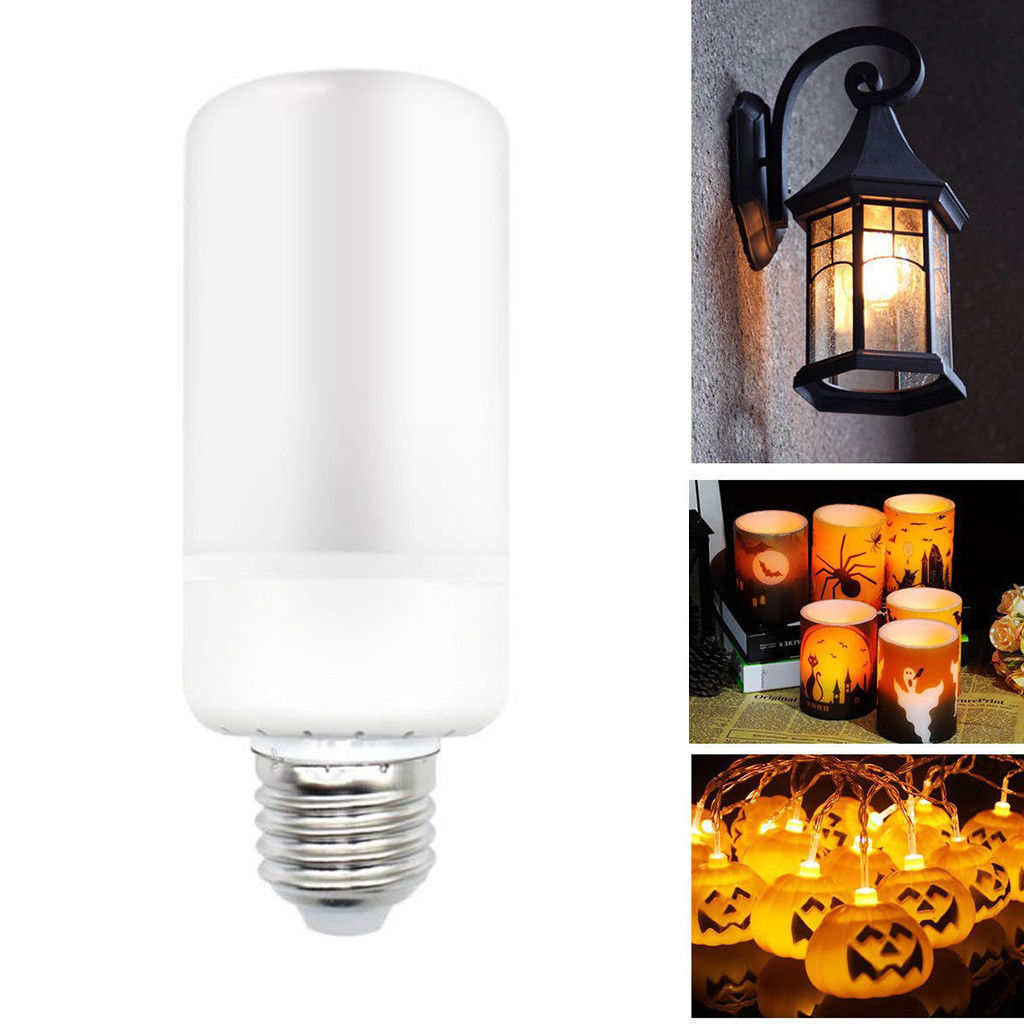 E27 3 Modes Flicker Flame Fire Effect LED Light Bulb Party Valentine Decor Warm Lamp Bulb