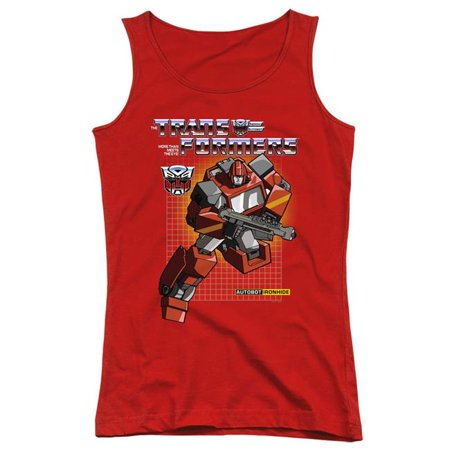 Trevco Sportswear HBRO216-JTK-3 Transformers & Ironhide-Juniors Tank Top, Red - Large - image 1 of 1