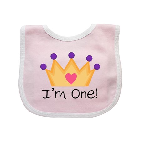 1st Birthday Princess Crown Girls Baby Bib 1st Birthday Girl Bib