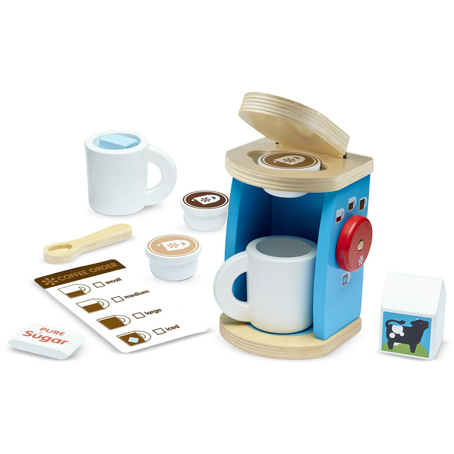 doug 11 brew and serve wooden coffee maker