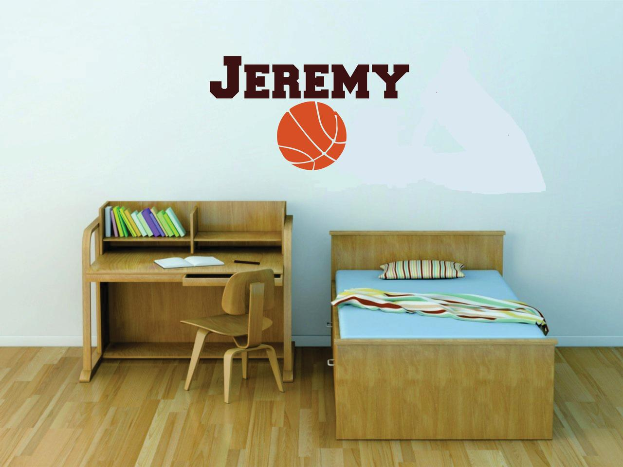 Personalized Name Vinyl Decal Sticker Custom Initial Wall Art Basketball Boys Sports Decor 16 Inches X 20 Inches Walmart Com Walmart Com