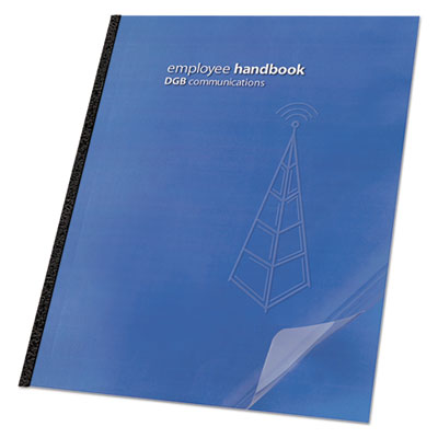 Clear View Presentation Binding System Cover, 11-1 4 x 8-3 4, Clear, 100 Box, Sold as 1 Box, 100 Each per Box by