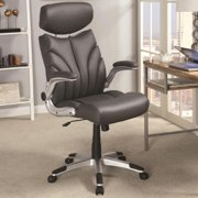 A Line Furniture Mercado Contemporary Sleek Design Grey Executive Office Chair with Head Rest