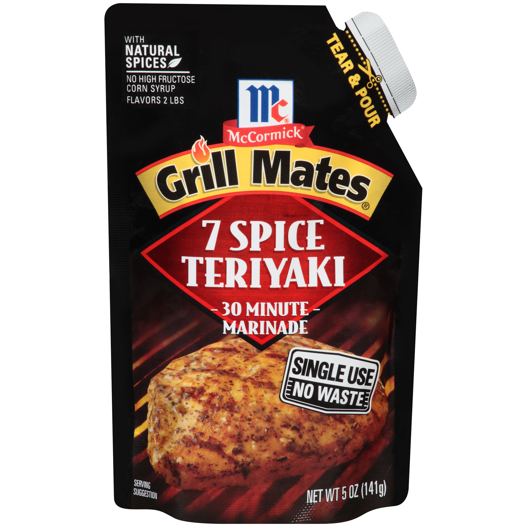 McCormick Grill Mates 7 Spice Teriyaki Single Use Marinade, 5 oz
