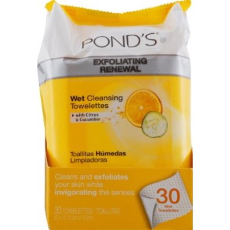 Pond's Wet Cleansing Towelettes, Morning Fresh, 30 Each (Pack of 6)