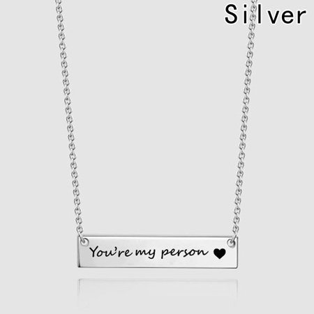 KABOER you are my person Necklace couple Necklaces Best Friend Necklace Friendship Jewelry Gift For Lover