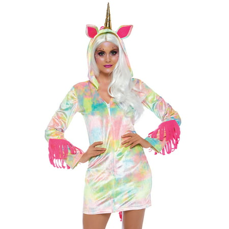 Leg Avenue Womens Enchanted Rainbow Unicorn Costume - Unicorn Rider Costume