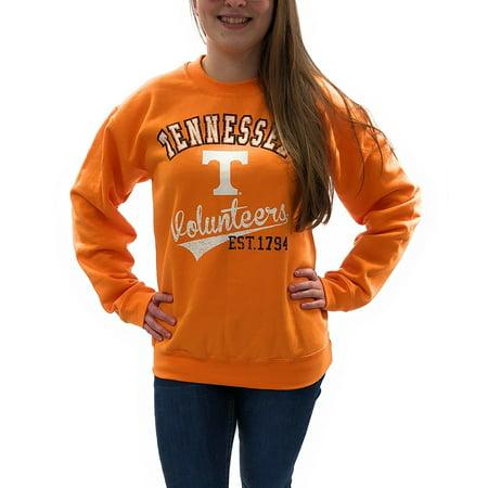8ad94382 Creative Apparel Women's NCAA Tennessee Volunteers Medium Weight Sweat Shirt
