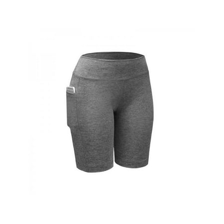 Lavaport Women Compression Shorts Running Yoga Sports Short Pants with Pocket