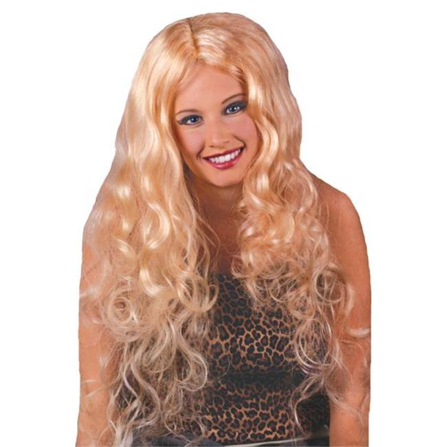 MorrisCostumes FW9231BD Wig Curly Blonde, 30 inch