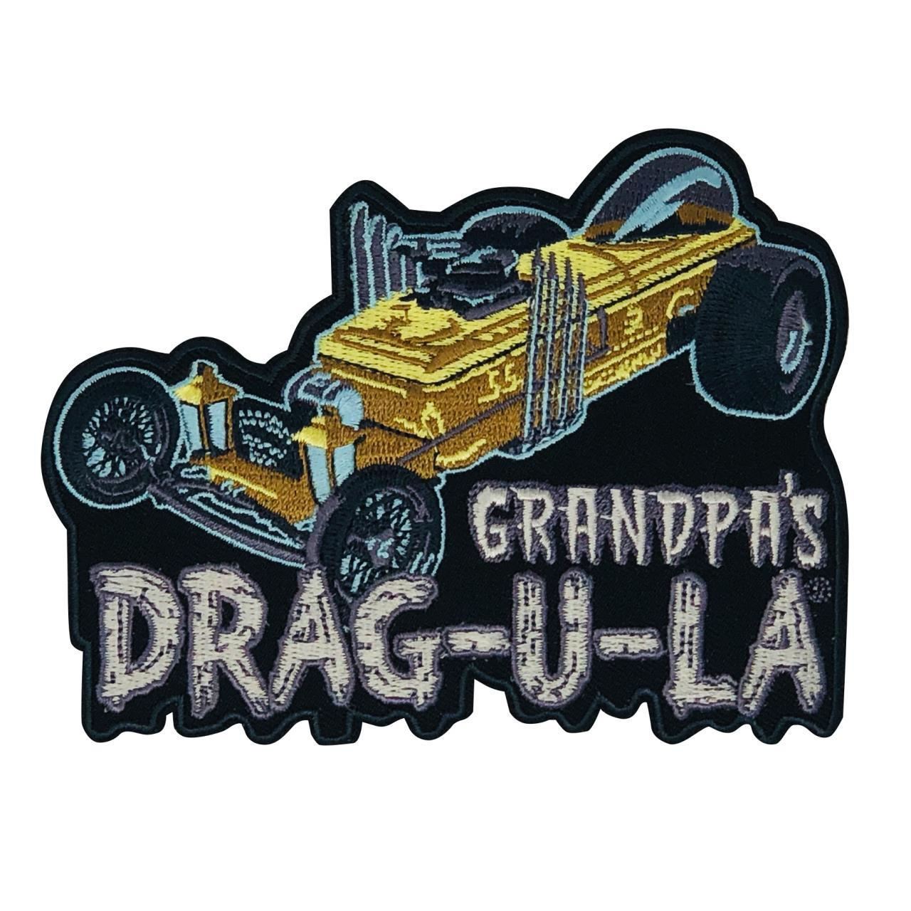 Lions Drag Strip  Automotive Embroidered  Iron On Patch
