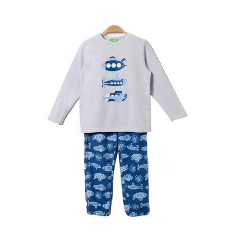 bossini Life Boys Submarine Raglan Sleeve Micro Fleece Homewear 100,US Size 4t -