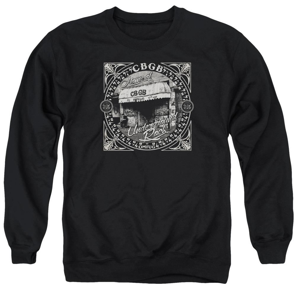 CBGB/FRONT DOOR - ADULT CREWNECK SWEATSHIRT - BLACK - 3X