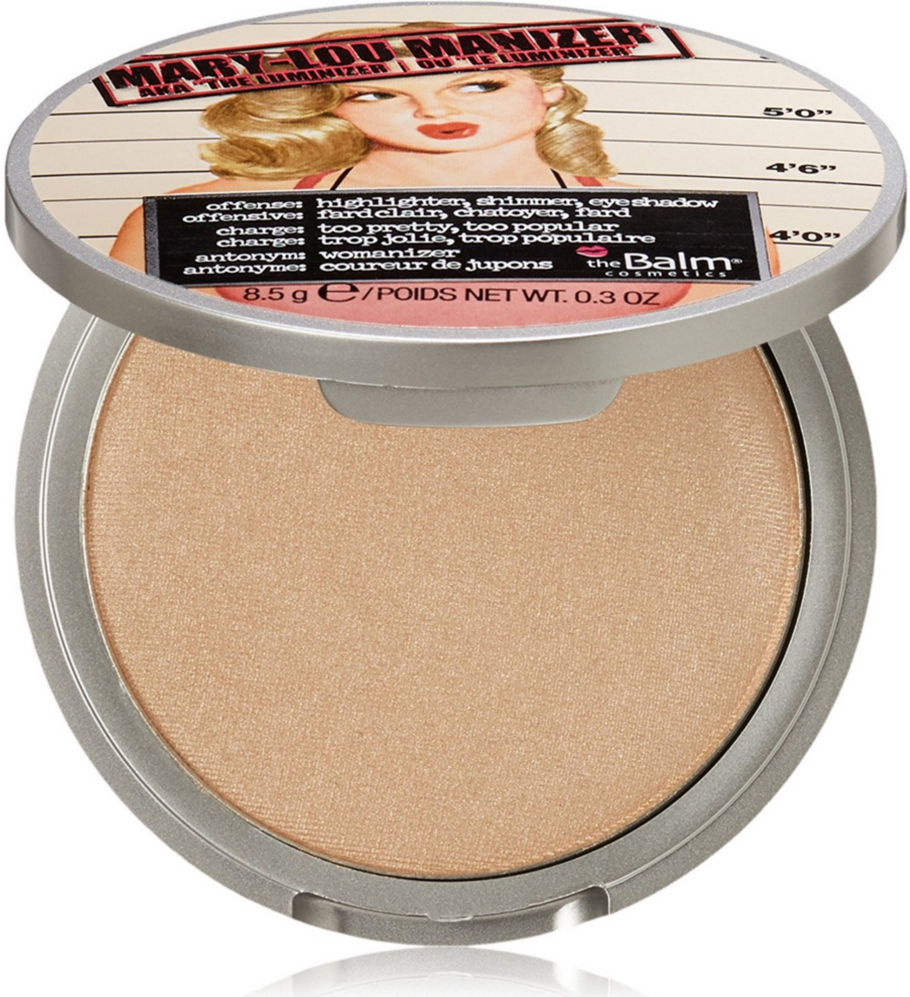 theBalm Mary-Lou Manizer Highlighter, Shadow & Shimmer 0.30 oz