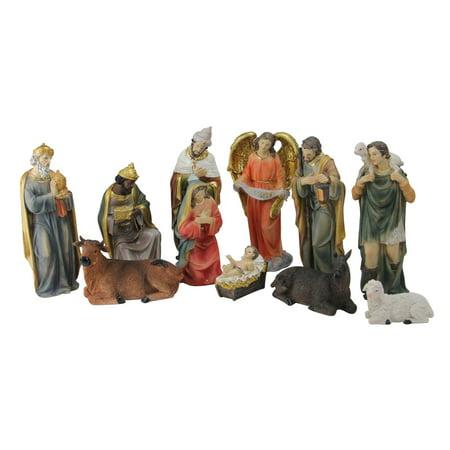 Northlight 11 Piece Resin Nativity and Epiphany Set