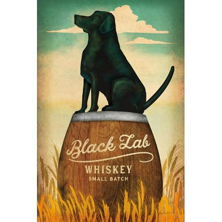 Black Lab Whiskey Retro Dog Liquor Ad Print Wall Art By Ryan Fowler Black Lab Dog Pictures