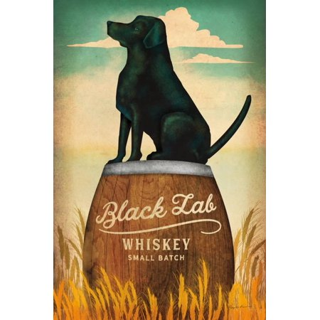 Black Lab Whiskey Retro Dog Liquor Ad Print Wall Art By Ryan Fowler (Ad Calvert Whiskey)