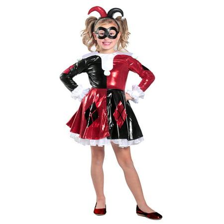 Harley Quinn Premium Child Dress - Gotham Girls Harley Quinn