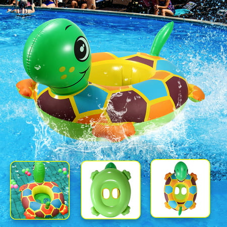 PVC Turtle Baby Swimming Ring Seat Baby Water Swimming Inflatable Swimming Pool Raft Chair Seat Float Ring Toys Outdoor Play ()