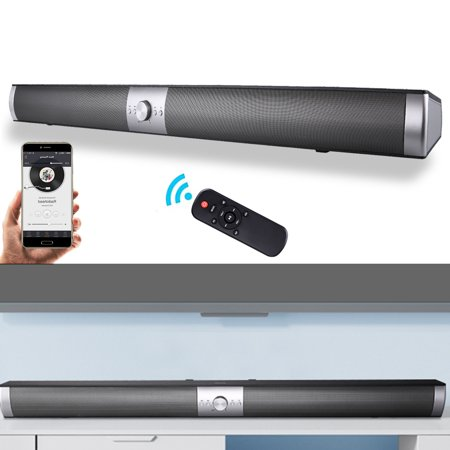 S6 TV Mini Bluetoth Sound Bar, 40W Wired And Wireless Home Theater Audio For Cell Phone/Tablet/Projector And Support TV With RCA (Remote Control Included)
