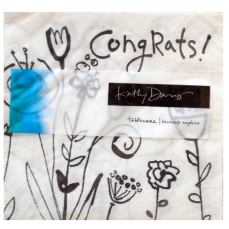 Mod Blooms Congratulations Beverage Napkins (Available in a pack of 36)