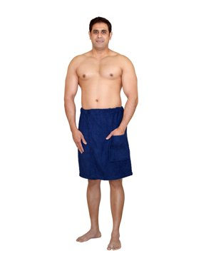 Men's 100% Terry Cotton Adjustable Velcro Body Wraps Spa Shower Towel Bath Wraps