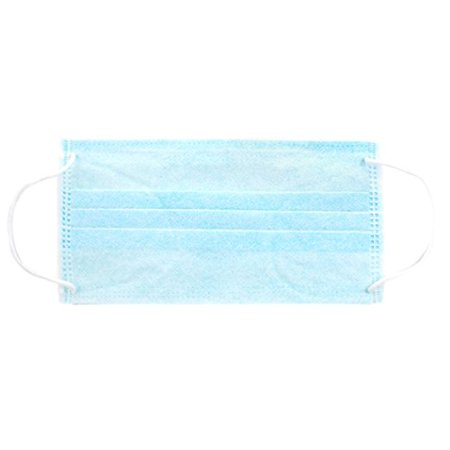 Mask Face Disposable Touch Personal Of Blue Pack Earloop Pleated