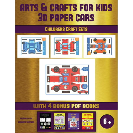 Easy Halloween Childrens Crafts (Childrens Craft Sets: Childrens Craft Sets (Arts and Crafts for kids - 3D Paper Cars): A great DIY paper craft gift for kids that offers hours of fun)