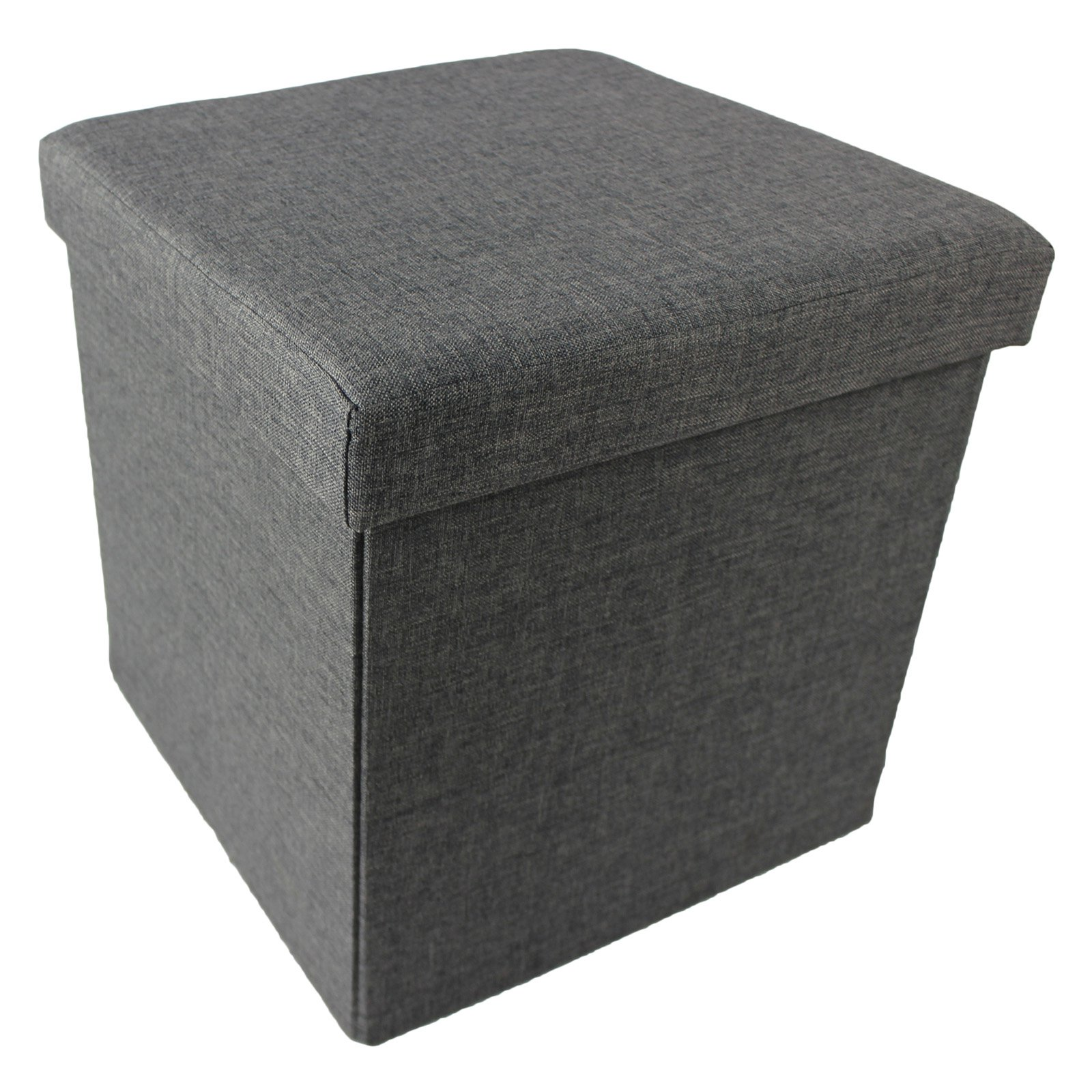 "Achim Collapsible Storage Ottoman, Linen, 15"" x 15"" x 15"""