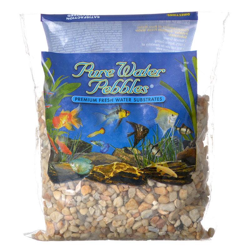 Pure Water Pebbles Aquarium Gravel Carolina Premium Fish Water Substrates 2 lbs by