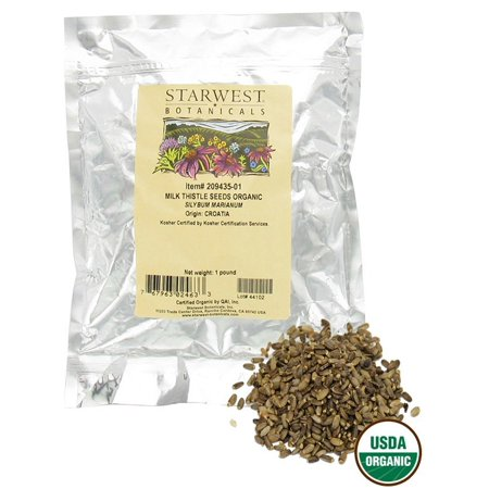 Starwest Botanicals - Bulk Milk Thistle Seeds Whole Organic - 1 lb.
