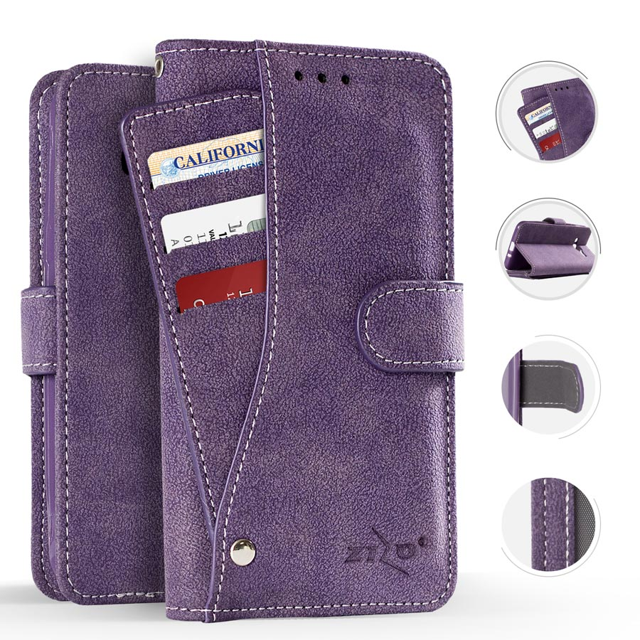 Samsung Galaxy Note 8 Case, Zizo Slide Out Wallet Pouch - Thin Lightweight Wallet Case w/ Credit Card and ID Holder - Heavy Duty